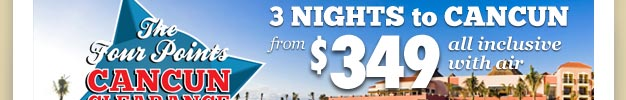 The Best Pricing to Cancun from Chicago, Milwaukee, St. Louis, AND Kansas City!