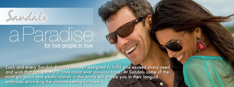 Sandals Resorts for two people in love
